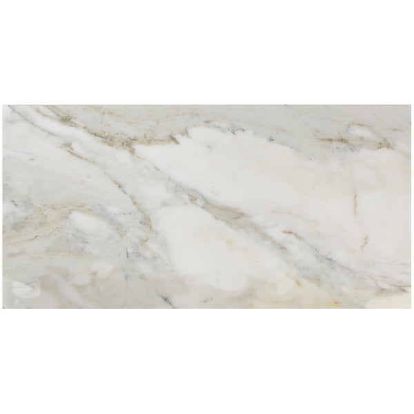 12x24 Polished Italian Calacatta Gold Marble Tile Extra