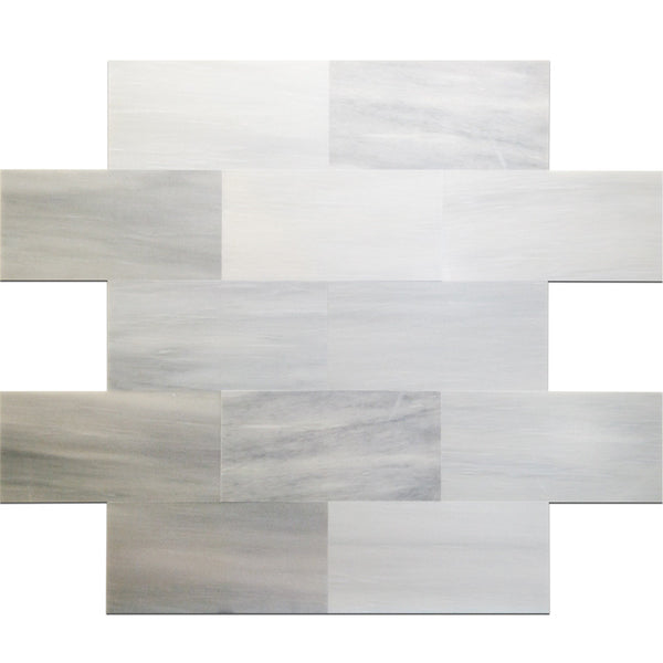 12 X 24 Solto White Honed Marble Tile Deko Tile