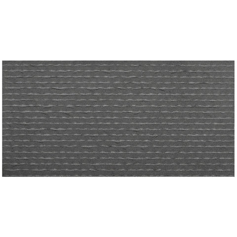 12 x 24 Flamed and Grooved Light Gray Basalt Tile - DEKO Tile