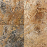 16 x 16 Honed and Unfilled Scabos Travertine Tile