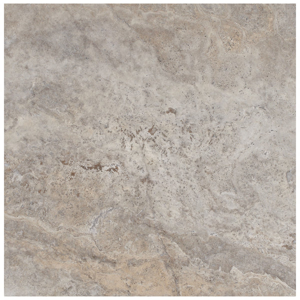 Ivory Light Honed Filled Travertine Tiles 18x18: 18 X 18 Honed And Filled Silver Travertine Tile