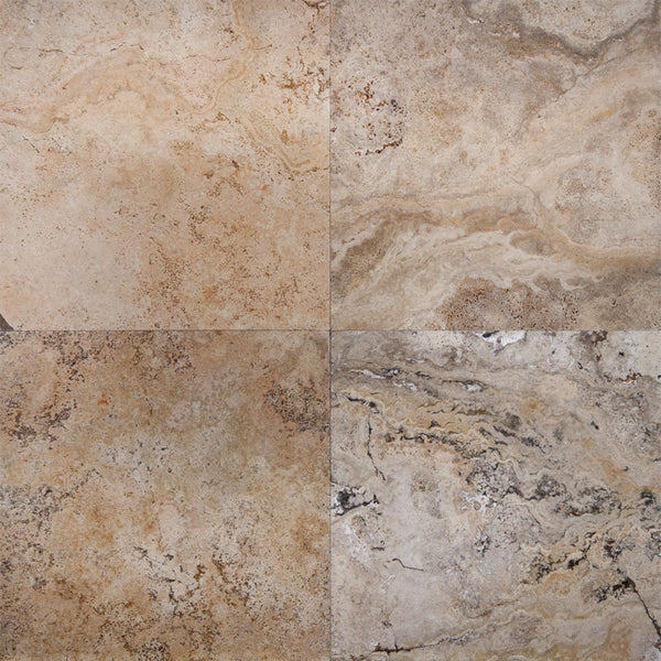 18 X 18 Honed And Unfilled Scabos Travertine Tile Deko Tile