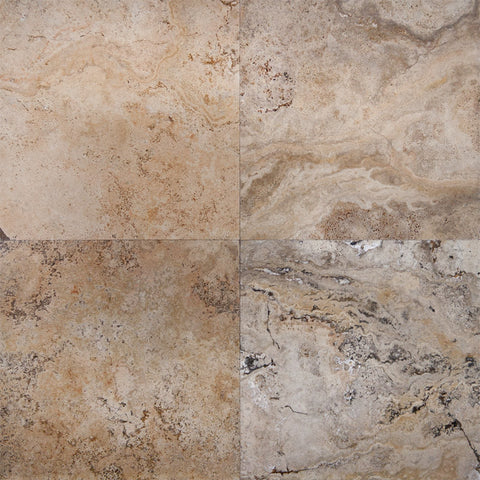 18 x 18 Honed and Unfilled Scabos Travertine Tile - DEKO Tile