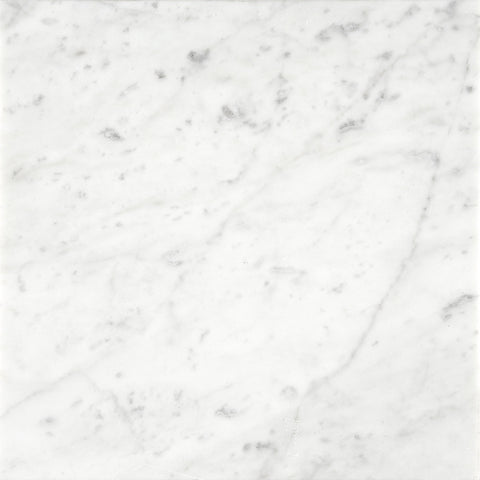 18 x 18 Polished Italian Bianco Carrara Tile  - DEKO Tile - 1