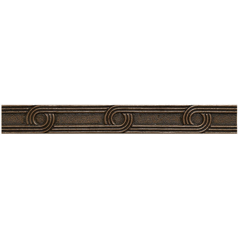 1 x 8 Circles Decorative Metal Liner - Bronze - DEKO Tile