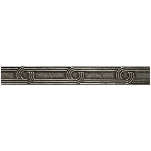 1 x 8 Circles Decorative Metal Liner - Pewter - DEKO Tile