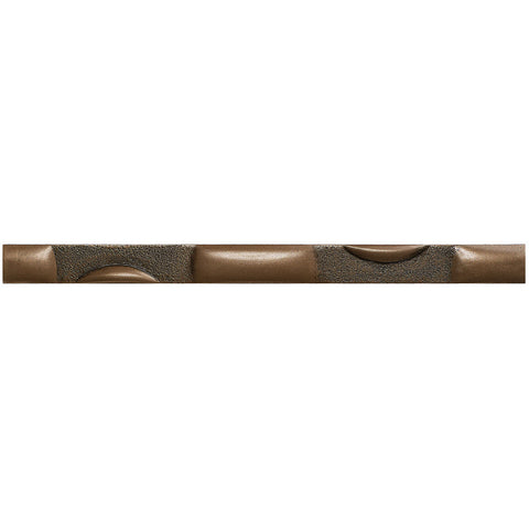 1 x 12 Bubbles Decorative Metal Liner - Bronze - DEKO Tile