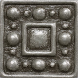 1 x 1 Dots Decorative Metal Insert - Pewter - DEKO Tile