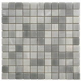 1 x 1 Solto White Honed Mosaic - DEKO Tile
