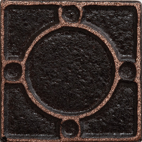 1 x 1 Threads Decorative Metal Insert - Antique Bronze - DEKO Tile