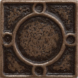 1 x 1 Threads Decorative Metal Insert - Bronze - DEKO Tile