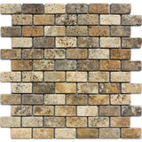 1 x 2 Scabos Travertine Mosaic Tile - DEKO Tile