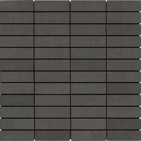 1 x 3 Light Gray Basalt Honed Mosaic Tile - DEKO Tile