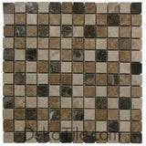 1 x 1 Mix Polished (Light Emp&Dark Emp&Beige) Mosaics - DEKO Tile
