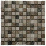1 x 1 Mix Tumbled (Light Emp&Dark Emp&Beige) Mosaics - DEKO Tile