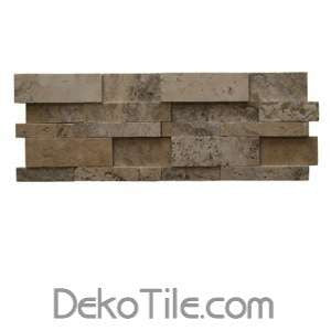 3D Hi-Low Philadelphia Travertine Honed Mosaic Ledger Wall Panels - DEKO Tile