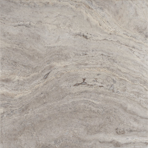 24 x 24 Silver Travertine Honed and Filled Tile - DEKO Tile