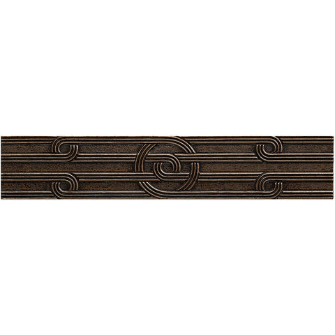 2 1/4 x 12 Circles Decorative Metal Liner - Bronze - DEKO Tile