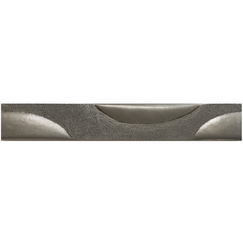 2 x 12 Bubbles Decorative Metal Liner - Pewter - DEKO Tile