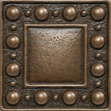 2 x 2 Dots Decorative Metal Insert - Bronze - DEKO Tile