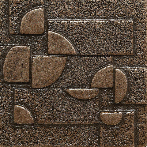 2 x 2 Planets Decorative Metal Insert - Bronze - DEKO Tile