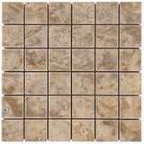 2 x 2 Scabos Travertine Tumbled Mosaic