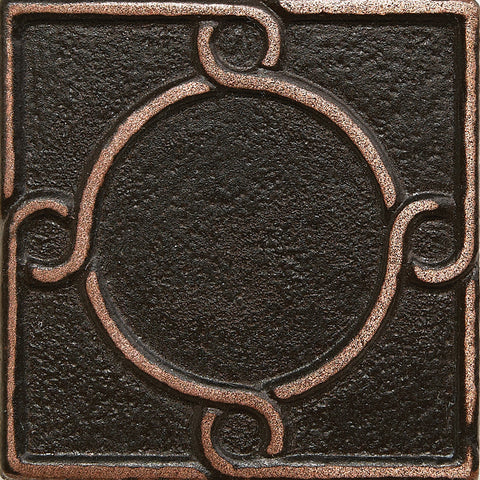 2 x 2 Threads Decorative Metal Insert - Antique Bronze - DEKO Tile
