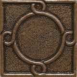 2 x 2 Threads Decorative Metal Insert - Bronze - DEKO Tile