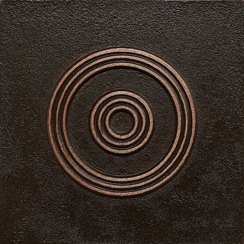 4 x 4 Circles Decorative Metal Insert - Antique Bronze - DEKO Tile