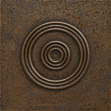 4 x 4 Circles Decorative Metal Insert - Bronze - DEKO Tile