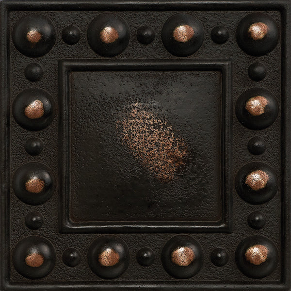 4 X 4 Dots Decorative Metal Insert Antique Bronze Deko