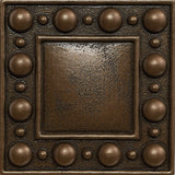 4 x 4 Dots Decorative Metal Insert - Bronze - DEKO Tile