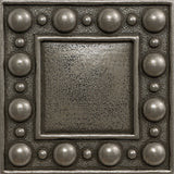 4 x 4 Dots Decorative Metal Insert - Pewter - DEKO Tile