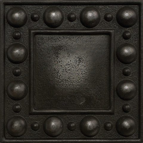 4 x 4 Dots Decorative Metal Insert - Wrought Iron - DEKO Tile