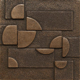 4 x 4 Planets Decorative Metal Insert - Bronze - DEKO Tile