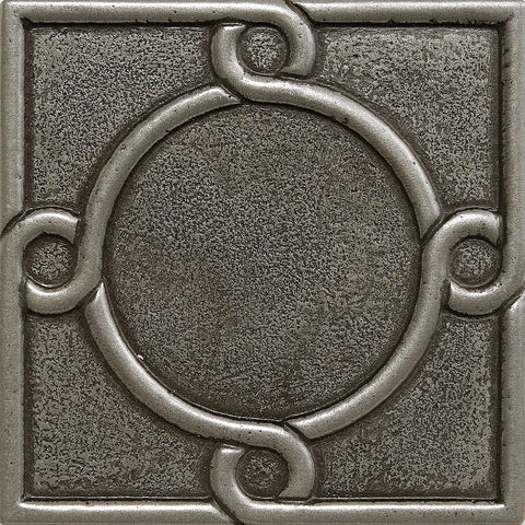 4 x 4 Threads Decorative Metal Insert - Pewter - DEKO Tile