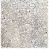 6 x 6 Silver Travertine Tumbled Tile - DEKO Tile