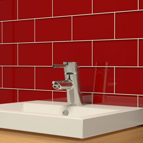 3 x 6 Glass Subway Tile - Red Velvet - DEKO Tile