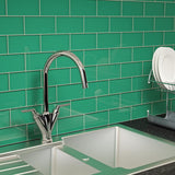3 x 6 Glass Subway Tile - Emerald Green - DEKO Tile