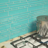 Metro Pattern Glass Mosaic Collection - Ionian Teal - DEKO Tile