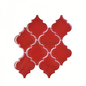 Red Moroccan Glass Mosaic Tile - DEKO Tile