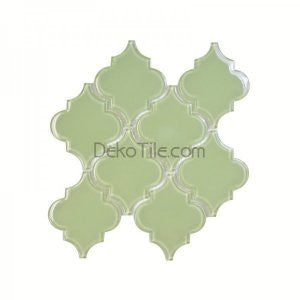 Lime Green Moroccan Glass Mosaic Tile - DEKO Tile