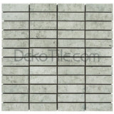 1 x 3 Polished Silver Shadow Mosaic Tile - DEKO Tile