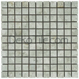 1 x 1 Polished Silver Shadow Mosaic Tile - DEKO Tile