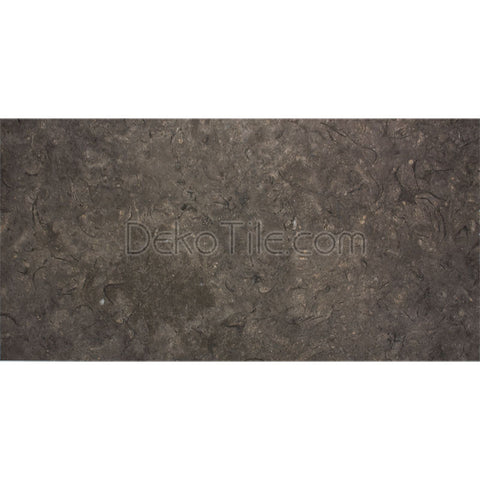 12 x 24 Sicilian Brown Egyptian Limestone Tile - Leather Finish  - DEKO Tile