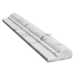Italian Bianco Carrara Honed Ogee Chair Rail - DEKO Tile