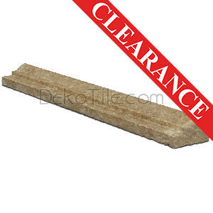 Noce Travertine Ogee Chair Rail - DEKO Tile