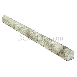 Silver Travertine Bullnose Trim - DEKO Tile