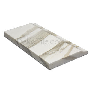 Italian Calacatta Gold Polished London Baseboard - 5 x 12 - DEKO Tile