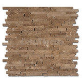 3/8 Random Brick Pattern Honed Noce Travertine Mosaic Tile - DEKO Tile
